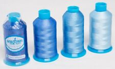 Marathon Polyester Embroidery machine thread: Shade Pack - Blues 4 x 1,000m
