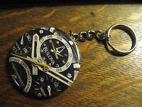 Bulova Watch Keychain - RePurposed Advertisement Backpack Purse Clip Ornament