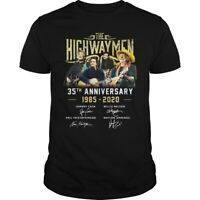 The Highwaymen 35th Anniversary 1985-2020 Signature t Shirt Vintage Men Gift Tee
