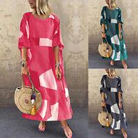 ZANZEA Women Short Sleeve Batwing Long Shirt Dress Oversize Maxi Dress Plus Size