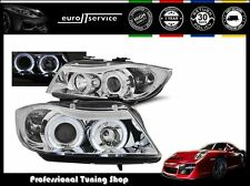 FARI ANTERIORI HEADLIGHTS LPBM75 BMW E90 E91 2005 2006 2007 2008 ANGEL EYES