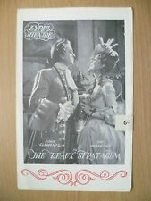 Lyric Theatre Programme- THE BEAUX STRATAGEM by George Farquhar