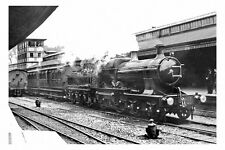 pt6270 - GWR Engine no 355 at Bath Spa Railway Station - photograph