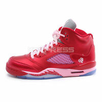 nike girls air jordan 5 retro gs 440892 605 basketball gym red - Nike Valentines Day Shoes