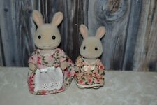 Calico Critters Bunny Rabbit Mom Daughter Child Floral Dress Toy Figure