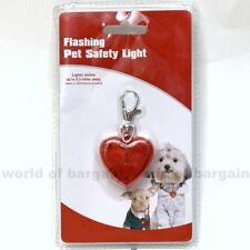 LED Flashing Pet Safety Light Dog Cat Night Pendant Clip to Collar Leash Chain