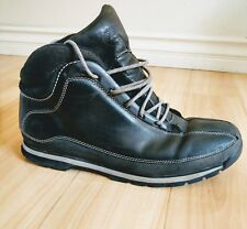 Classic Timberland 85150 Mens 11 Black Leather Hiking Camp Ankle Boots Shoes
