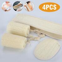 Lot Natural Exfoliating Loofah Body Sponge Pads Scrubber Luffa Brush Bath Shower