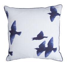 Walra Zierkissen / Dekokissen Blue Birds 45 x 45 cm Blau mit RV