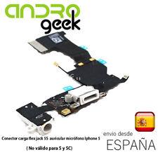 Conector Carga iPHONE 5S BLANCO Flex powerJack Auricular Microfono.EnvioOrdinari