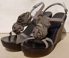 Boden suede & fabric strappy wedge sandals UK 5 EU 38 BNIB
