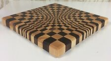 3D End Grain Cutting Board, Handmade, Walnut and Maple Wood