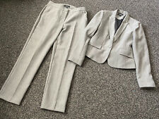 Nice grey trouser suit size 12 VGC