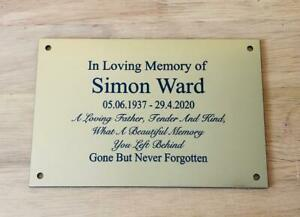 Personalised Engraved Memorial or Celebration Plaque Brass or Silver effect