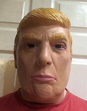 Donald Trump Celebrity Latex Mask President Blond Hair American business Magnate