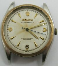 Rolex Oyster bubble back part: gold & steel watch case 6085 (fit a caliber 645)