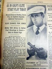 4 1938 NY Times newspapers HENRY PICARD WINS MASTERS GOLF TOURNAMENT v SAM SNEAD