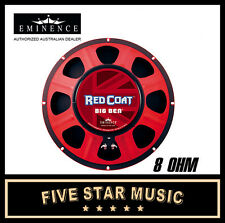 "EMINENCE BIG BEN RED COAT SERIES 15"" GUITAR SPEAKER 225 WATTS 8 OHM NEW"