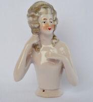 Antique German Porcelain Half Doll Figurine