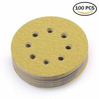 5in 80 Grit Sanding Discs Pad Sandpaper For Milwaukee Random Orbit Palm Sander