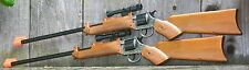 TWO Cap Gun Rifles w Scopes Fires 12-Shot Ring Caps Made in Italy PAIR 20500