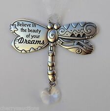 e Believe in beauty of your dreams DRAGONFLY BLESSINGS ORNAMENT dream car charm