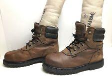 Vtg Mens Wolverine Waterp. Eh Steel Toe Work Brown Boots Size 9 M