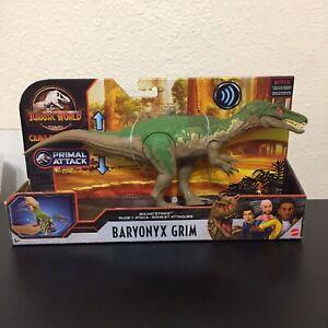 NEW Jurassic World BARYONYX GRIMSound Strike  CAMP CRETACEOUS Primal Attack