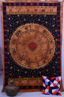 Zodiac Horoscope Tapestry, Indian Astrology Hippie Wall Hanging Mandala Decor