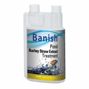 BANISH POND BARLEY STRAW EXTRACT BLANKETWEED GREEN WATER TREATMENT ALGAE CARE