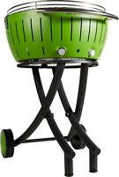 Lotusgrill XXL il barbecue senza fumo versione con  le ruote colore VERDE cm.60