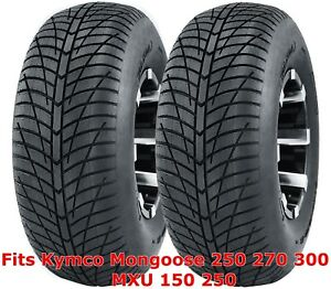 (2) Kymco Mongoose 250 270 300 MXU 150 250 front 21x7-10 Hi-speed ATV tires