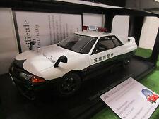 NISSAN SKYLINE GT- R R32 POLICE CAR IBARAK 1/18 AUTOART 77363 voiture miniature