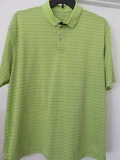 Izod Golf Shirt X Large Light Green Stripes 100% Polyester