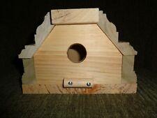 "Handmade Hanging Wooden 1"" Hole Birdhouse"