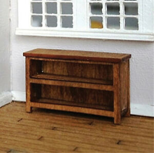 Dollhouse Tanager Short Bookcase Kit 1:48 Scale