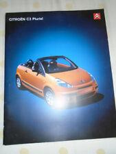 Citroen C3 Pluriel brochure Oct 2004 prestige
