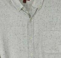 Arizona Mens Size XL White Black Button Down Long Sleeve Casual Dress Shirt NWT