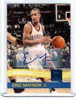 NBA Eric Maynor 2010-11 Panini Donruss OKC Thunder VCU Autograph Card SN 92/199