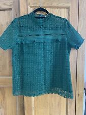 Green Lace Top T K Maxx Size Large 12-14