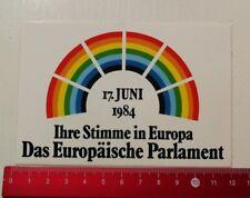 Pegatina/sticker: el Parlamento Europeo 1984 (27031790)