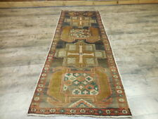 Circa1930s Antique Karache Heriz Serapi Viss 2.6x6.6 Estate Sale Caucasia Rug