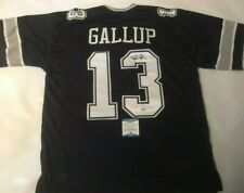 Michael Gallup Autographed Dallas Cowboys Blue Jersey Beckett Witnessed COA