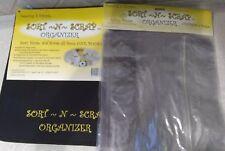 SORT N' SCRAP Scrapbook Organizer Binder Art Craft Case travel &(5)refill pages