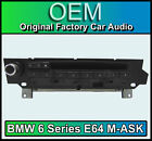 BMW Serie 6 E64 m-ask MK2 6 Radio de coche, MP3 Reproductor CD