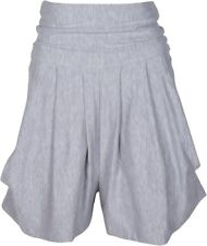 Uptown Sweats Kiya Tomlin Womens Draped Short XS Light Gray Bamboo $146