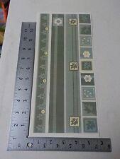 PEBBLES INC. TRADITIONS GREEN SAMPLER BORDERS STICKERS SCRAPBOOKING A3112