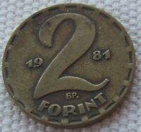 1981 Hungary 2 forint coin