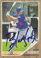 Brian Cavazos-Galvez Los Angeles Dodgers 2011 Topps Heritage Signed Card