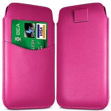 Premium ranura para tarjeta Pu Cuero tire Flip Tab Funda Bolsa Para Sony teléfonos